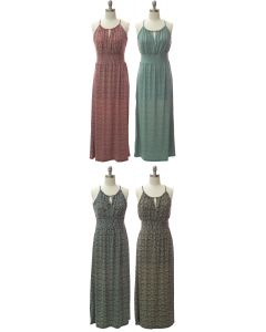 Jewel Spaghetti Strap Maxi Dress - Assorted
