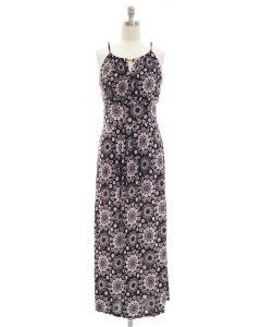 Jewel Yoke Maxi Dress - Black
