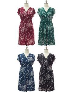 Plus Flutter Sleeve Midi Dress - Assorted