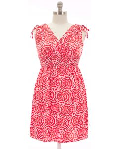 Plus. Shoulder Ties Dress - Rose
