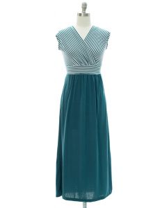 Colorblock Stripe Maxi Dress - Green