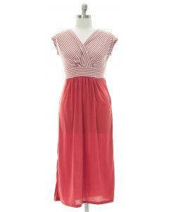 Plus Surplice Tie Back Maxi Dress - Marsala