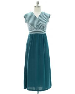 Plus Colorblock Stripe Maxi Dress - Green