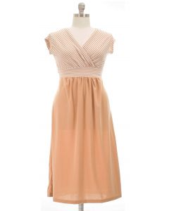 Plus. Maxi Striped Dress - Taupe