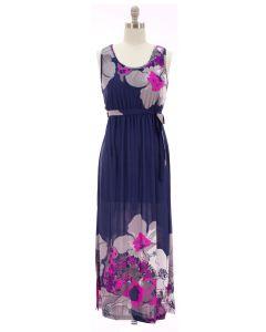 Self Ties Maxi Dress - Blue