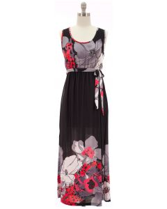 Self Ties Maxi Dress - Black