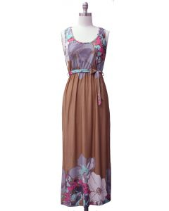 Self Ties Maxi Dress - Taupe