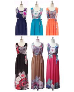 Self Ties Maxi Dress - Assorted