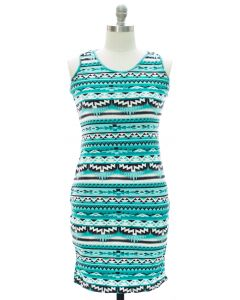 Plus Racerback Bodycon Midi Dress - Turquoise