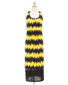 Maxi Chevron X Back Dress - Yellow