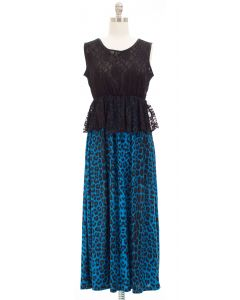 Maxi Lace Dress - Blue