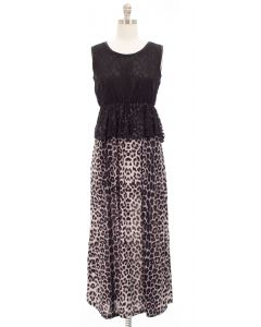 Maxi Lace Dress - Brown