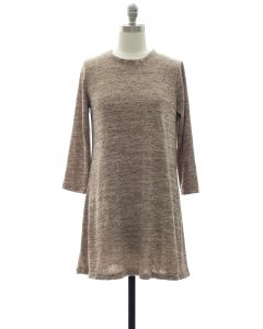 Hacci Shift Dress - Taupe