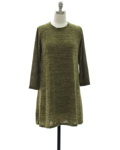 Hacci Shift Dress - Hunter Green