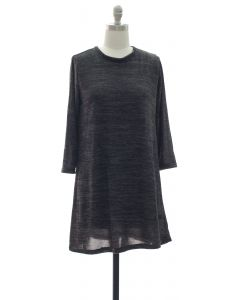 Hacci Shift Dress - Black