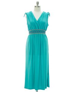 Plus Fiesta Double V Surplice Maxi Dress - Turquoise