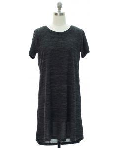 Crochet Back Hacci Midi Dress - Black