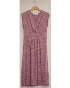 Cap Sleeve Hacci Surplice Dress - Pink