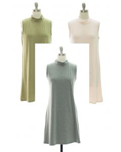 Sleeveless Shift Dress - Assorted