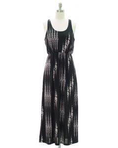 Racerback Tank Maxi Dress - Black