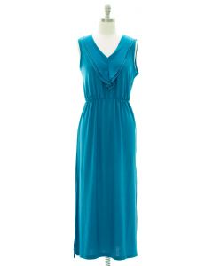 Ruffle Front Maxi Dress - Aqua