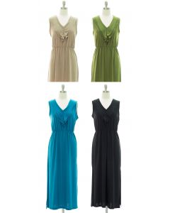 Ruffle Front Maxi Dress - Assorted
