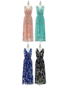 Crochet Back Floral Maxi - Assorted