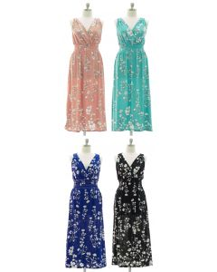 Plus Crochet Back Floral Maxi - Assorted