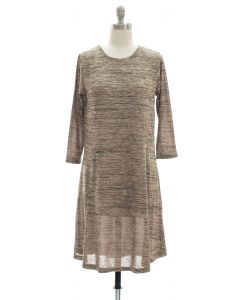 Varigated Shift Dress - Taupe