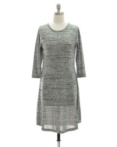 Varigated Shift Dress - Grey