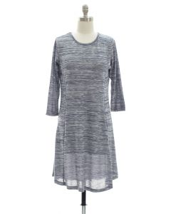 Varigated Shift Dress - Blue Grey