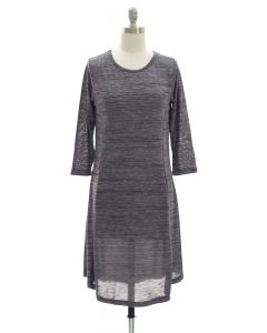Varigated Shift Dress - Black