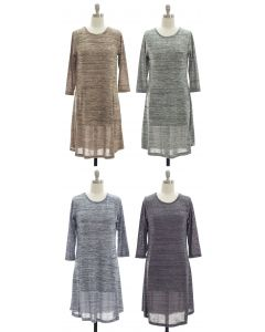 Varigated Shift Dress - Assorted