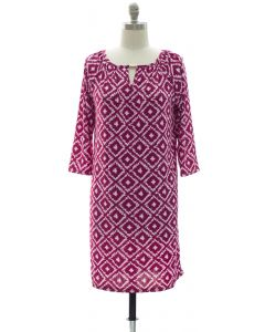 Ikat Jewel Dress - Purple