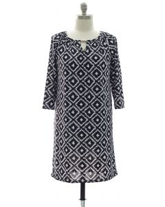 Ikat Jewel Dress - Black