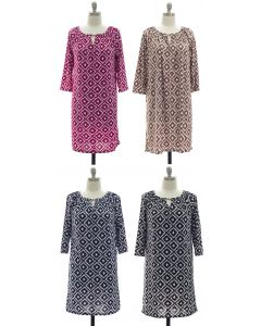 Ikat Jewel Dress - Assorted