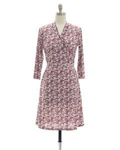 Floral Faux Wrap Dress - Lavender