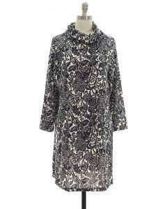 Hacci Cowl Neck Dress - Black
