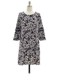 Crochet Sleeve Yummy Dress - Black