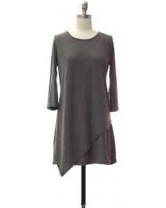 Panel Front Knit Dress - Black