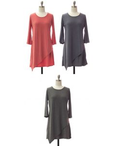 Panel Front Knit Dress - Assorted