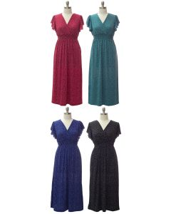 Plus Flutter Sleeve Maxi - Assorted