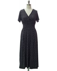 Short Sleeve Maxi Dress - Black