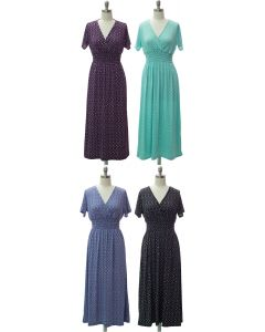 Short Sleeve Maxi Dress - Assorted