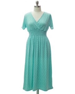 Plus Short Sleeve Maxi Dress - Turquoise