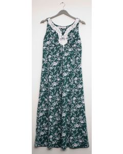 Plus Crochet Yoke Maxi Dress - Green