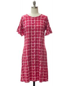 Flutter Sleeve Pane Dress - Rose