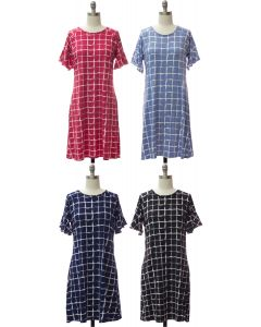 Flutter Sleeve Pane Dress - Assorted