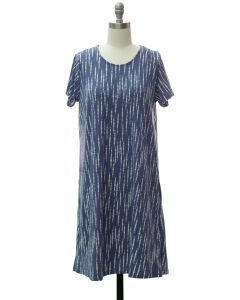 Short Sleeve Brushed Shift Dress - Lavender