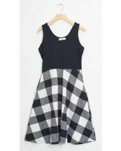 Liverpool Colorblock Midi - Black White Checker